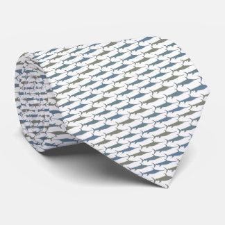 Gris d'Armani de cravate d'espadons