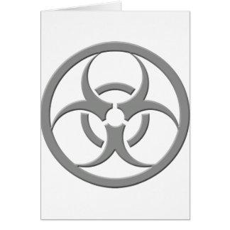 Gris de Biohazard Carte De Vœux