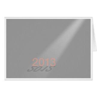 Gris de la bonne année 2012-13 carte de vœux