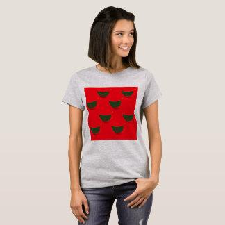 Gris de T-shirt de concepteurs :  Rouge vert de