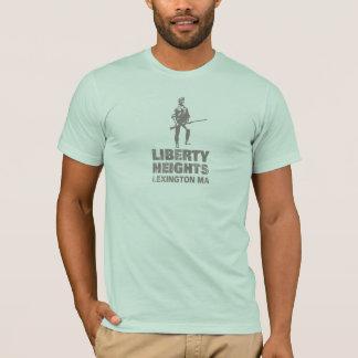 Gris de tailles de liberté empilé (la pièce en t t-shirt