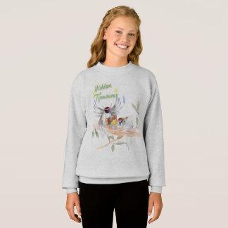 """Gris du sweatshirt des filles """"cachées de trésors"""""""