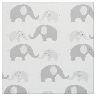 Gris et blanc mignons de tissu d'éléphant