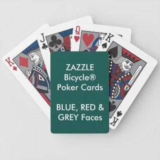 GRIS fait sur commande de ROUGE BLEU de cartes de Jeu De Cartes