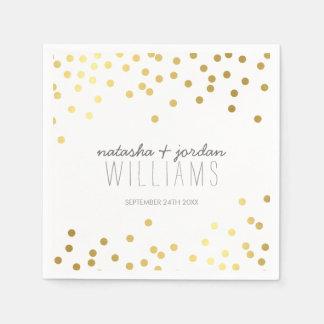 Gris mignon d'or de taches de confettis de DÉCOR Serviettes Jetables