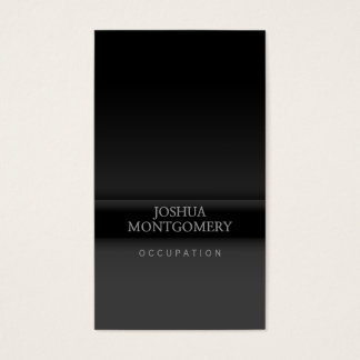Gris minimaliste professionnel de noir de carte de