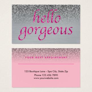 Gris rose magnifique de rendez-vous de salon de cartes de visite