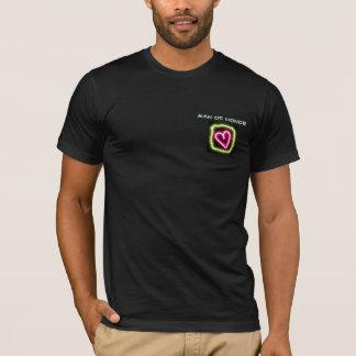 Groen & roze hart aangepast man van het overhemd t shirt