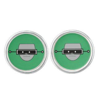 Groene de Ogen van de robot Manchetknopen