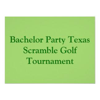 Groene de vrijgezelpartij van Golfing van het Golf 16,5x22,2 Uitnodiging Kaart
