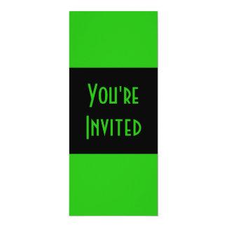 groene kleur 10,2x23,5 uitnodiging kaart