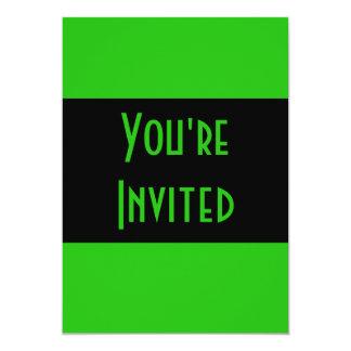 groene kleur 12,7x17,8 uitnodiging kaart