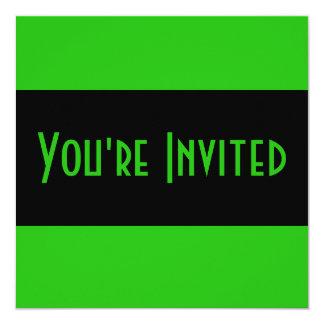 groene kleur 13,3x13,3 vierkante uitnodiging kaart