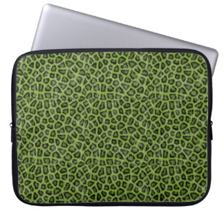 Groene leodruk laptop sleeve