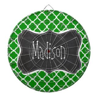 Groene Marokkaanse Quatrefoil; Het bord ziet eruit Dartbord