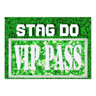 Groene nodigen VIP van de Partij van het Mannetje 12,7x17,8 Uitnodiging Kaart