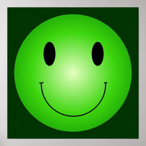 Groene Smiley Afdruk