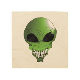 """Groene Vreemde 8 """" x8"""" het Houten Art. van de Muur Hout Afdruk"""