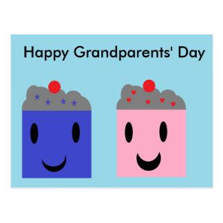 Grootouder Cupcakes Briefkaart