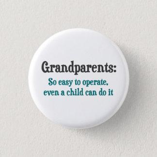 Grootouders zo Gemakkelijk te werken Ronde Button 3,2 Cm