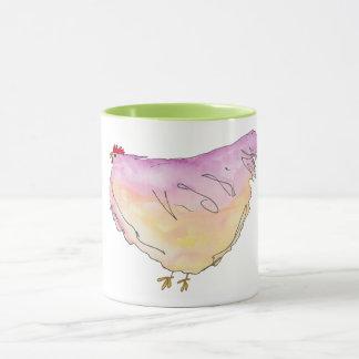 Grosse tasse lunatique de poulet