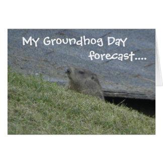 Groundhog a prévu - la carte de jour de Groundhog
