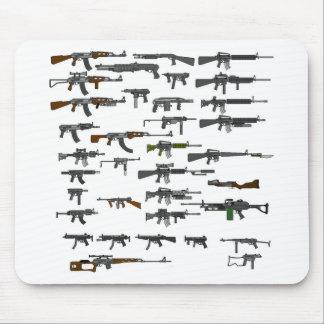 Groupe d'armes à feu tapis de souris