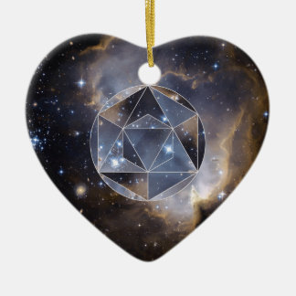 Groupe d'étoile géométrique ornement cœur en céramique
