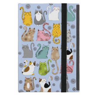 Groupe mini de cas mignon et d'amusement de chats étuis iPad mini