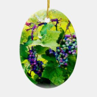 groupes des raisins 17 ornement ovale en céramique