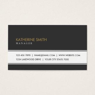 Groupon noir simple simple élégant professionnel carte de visite standard