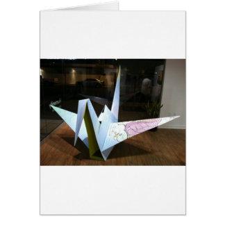 grue d'origami carte