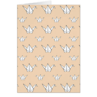 Grues oranges d'origami carte