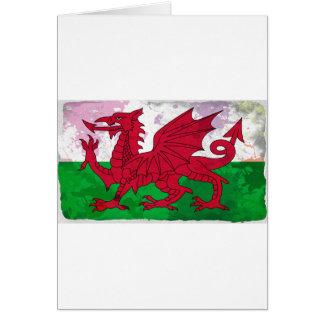Grunge de drapeau de Gallois Carte