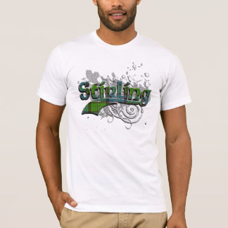 Grunge de tartan de Stirling T-shirt
