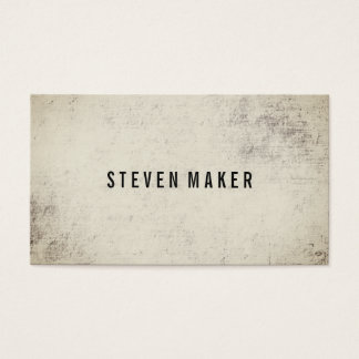 Grunge minimaliste cartes de visite
