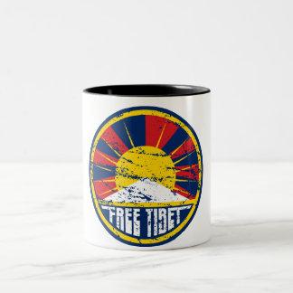 Grunge ronde libre du Thibet Mug Bicolore