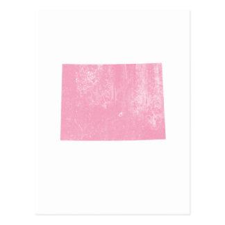 Grunge vintage rose du Colorado Carte Postale