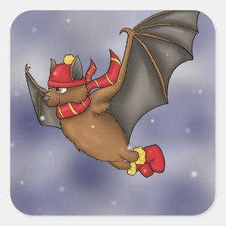 Gryffindor a inspiré la chauve-souris d'hiver sticker carré