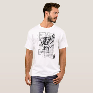 Gryphon tribal - T-shirt blanc