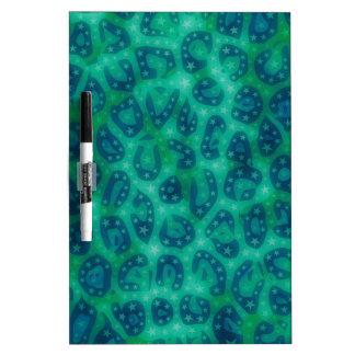 Guépard rougeoyant de bleu de turquoise tableaux effaçables blancs