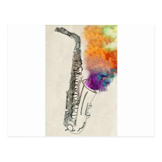 Guérison de saxophone carte postale