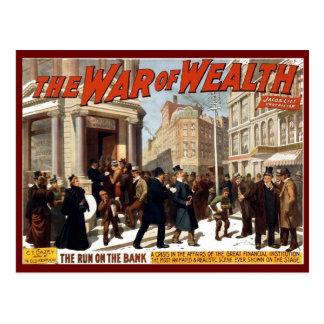 Guerre de la richesse - carte postale