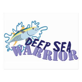 Guerrier de mer profonde carte postale