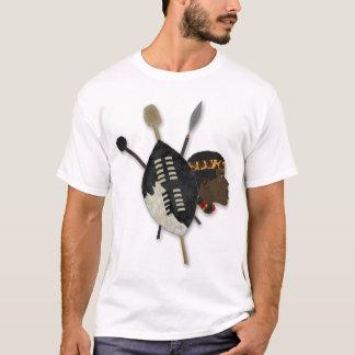 guerrier de zoulou t-shirt