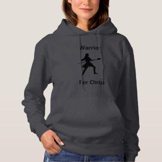 Guerrier féminin pour le sweat - shirt à capuche