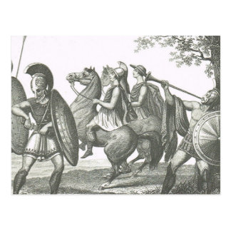 Guerriers 3 de Grec et d'Etruscan Carte Postale