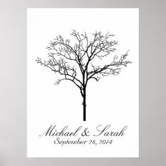 Guestbook d'arbre d'empreinte digitale de mariage