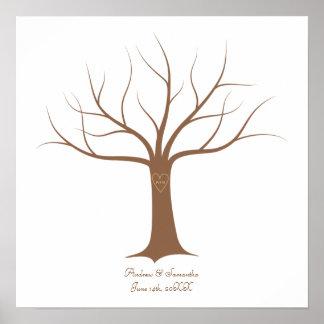 Guestbook de mariage d'arbre d'empreinte digitale