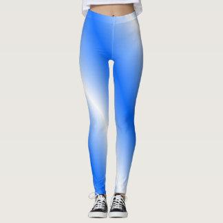 Guêtres bleues et blanches leggings